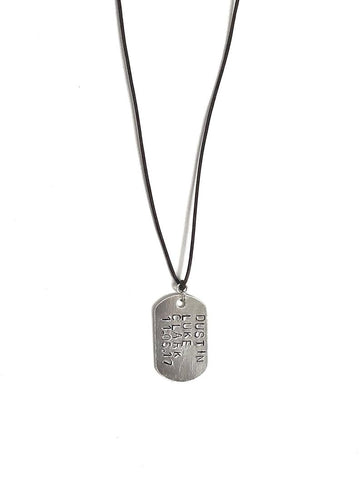 Aluminum Dog Tag Necklace