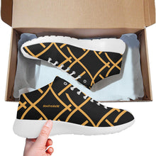 Load image into Gallery viewer, Black Golden Color Print Wakerlook Men's  Shoes