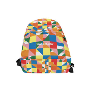 Wakerlook Triangle Abstract All-Over Print Unisex Nylon Backpacks