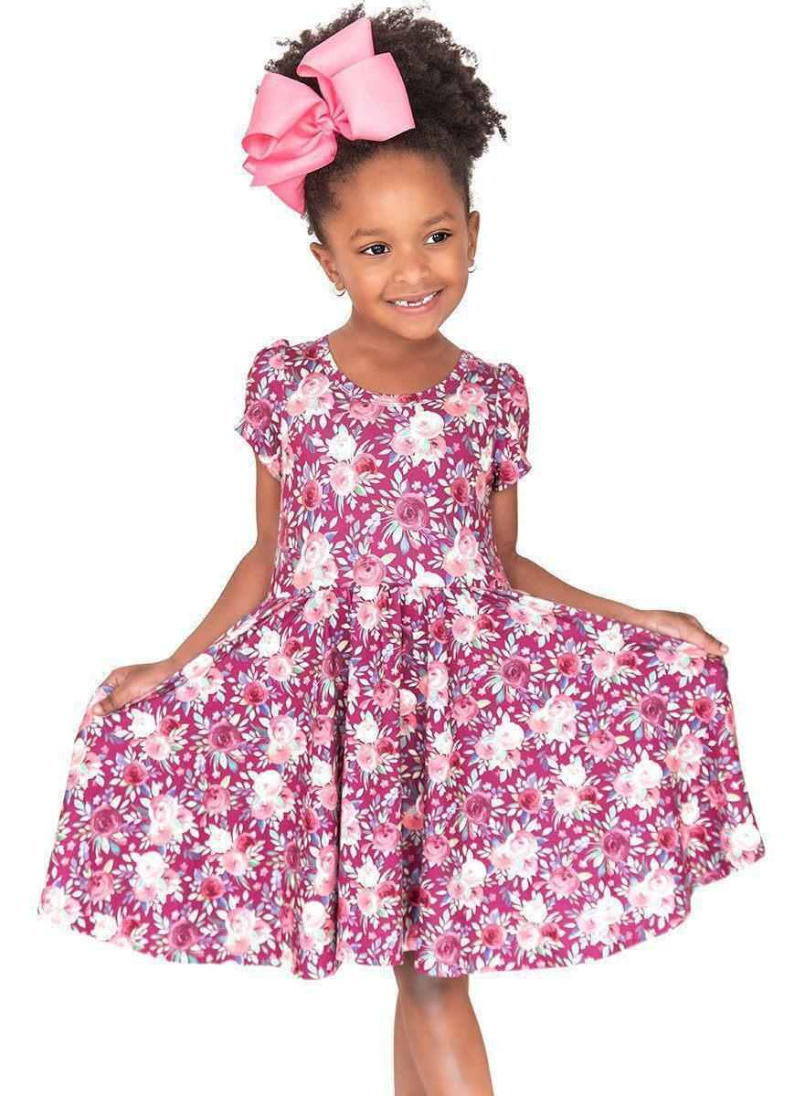 Harmony Floral Twirl Hugs Dress - RTS