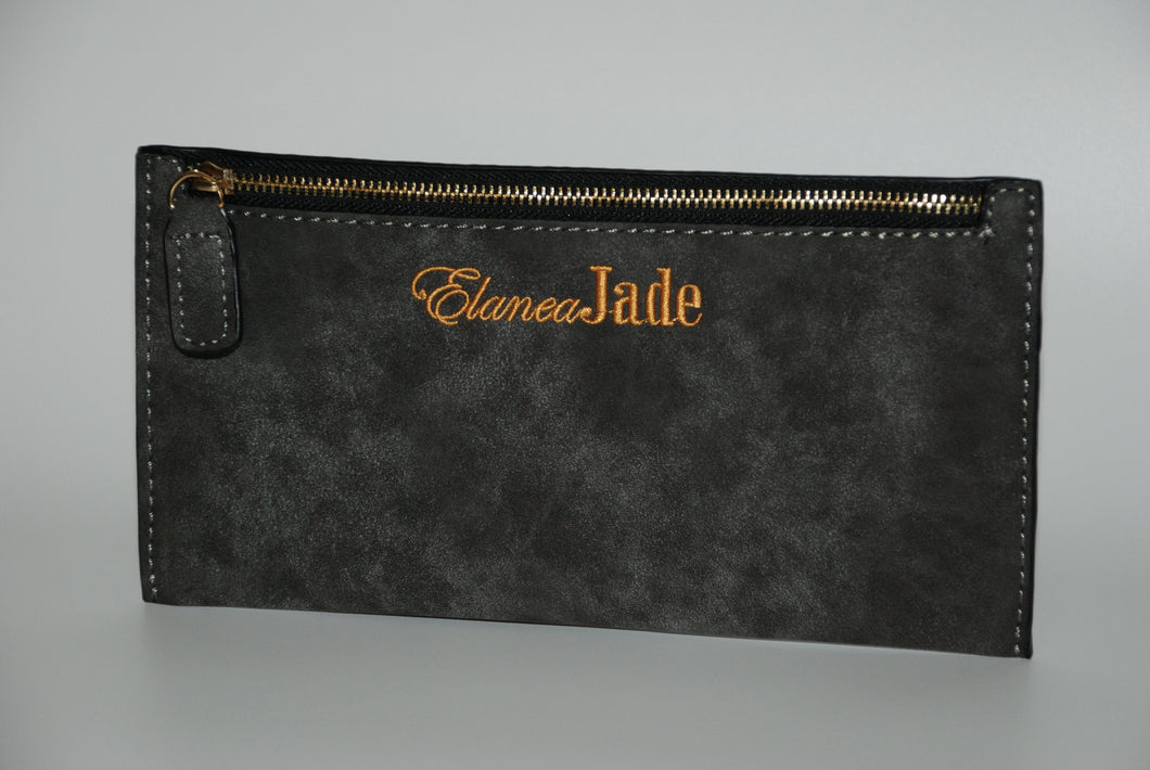ElaneaJade Zipper Pouch in Slate Grey