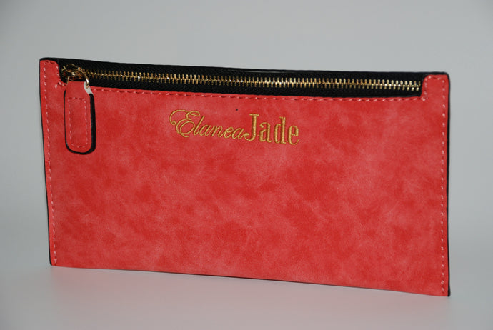 ElaneaJade Zipper Pouch in Coral
