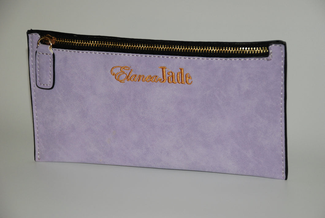ElaneaJade Zipper Pouch in Pale Orchid