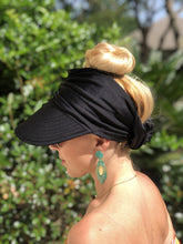 Load image into Gallery viewer, Aruba Black Visor - Summer Hat
