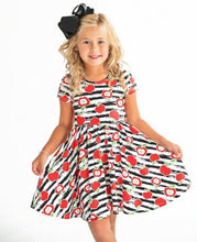 Load image into Gallery viewer, Striped Apple Twirl Hugs Dress - RTS
