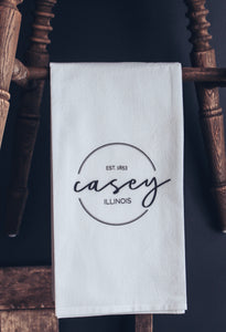 Casey, Illinois Tea Towel