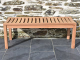 120cm teak backless garden bench