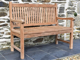 120cm teak outdoor bench