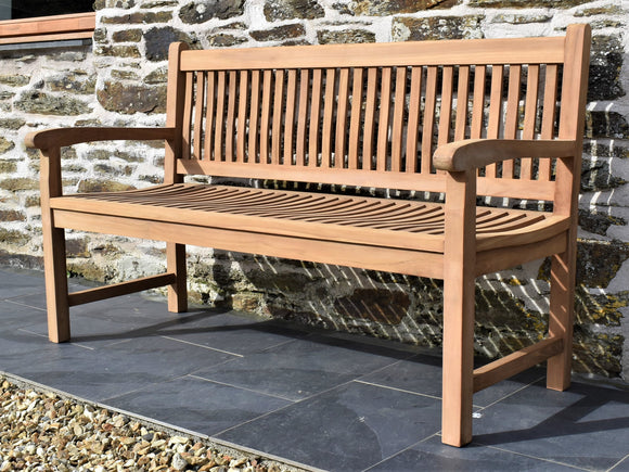 150cm teak outdoor bench