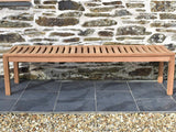 180cm teak backless garden bench