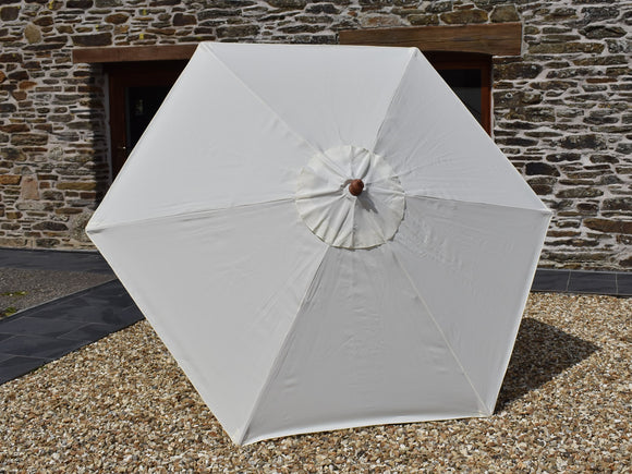 2.5m Hexagonal Wooden Garden Parasol Natural