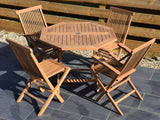 4 Seater Octagonal Folding Teak Set with Classic Folding Chairs and Armchairs