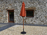 2m Octagonal parasol closed Terracotta