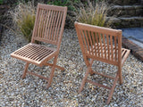 6 Seater Rectangular Pedestal Teak Set with Folding Chairs & Armchairs