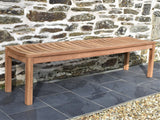 4 seater teak backless garden seat