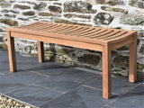 4ft teak outdoor backless bench
