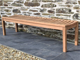 6ft teak backless outdoor bench