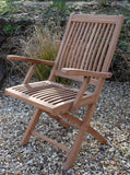 2 Seater Octagonal Folding Teak Set with Folding Armchairs