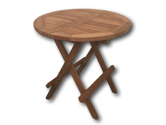 Teak Round Folding Coffee Table