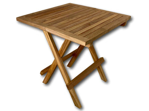 Square teak outdoor garden folding coffee and picnic table