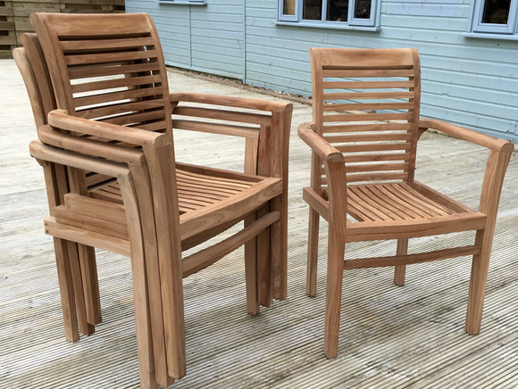 Newbury Teak Stacking Armchair