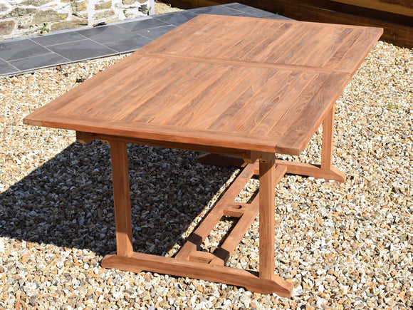 Teak 180-240x100cm Rectangular Extending Table
