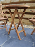 Teak 60cm Round Folding Table