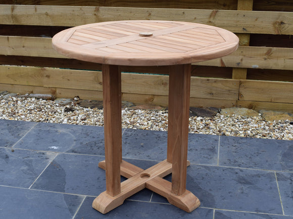 Teak 80cm Round Pedestal Table