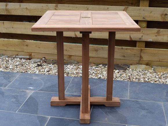 Teak 70cm Square Pedestal Table
