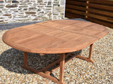 Teak 150-230cm Round Double-Extending Table