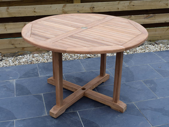 Teak 120cm Round Pedestal Table