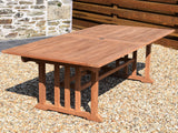 Teak 240-320x120cm Rectangular Double-Extending Table