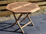 Teak 100cm Octagonal Folding Table