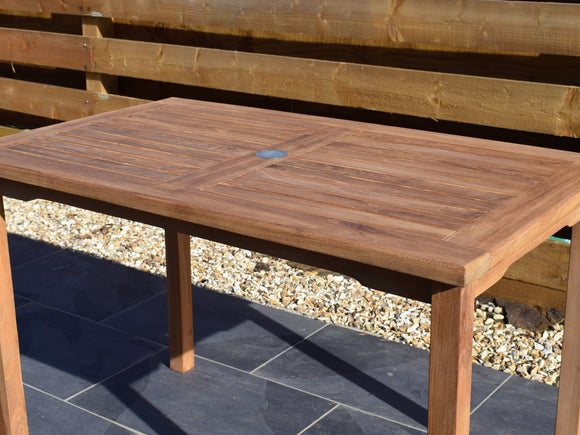 Teak 120x70cm Rectangular Bistro Table