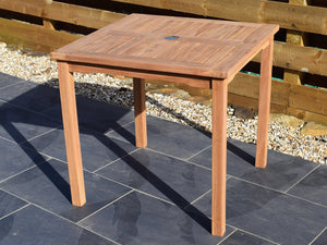 Teak 80cm Square Bistro Table