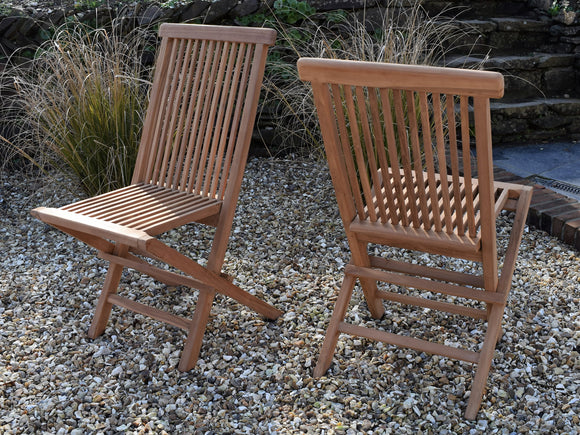 Classic Teak Folding Chair
