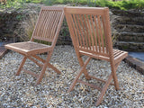 12 Seater Oval Double Extending Teak Set with Folding Chairs & Recliners