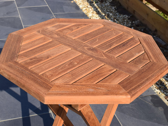 Teak 60cm Octagonal Folding Table