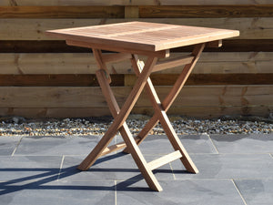 Teak 70cm Square Folding Table
