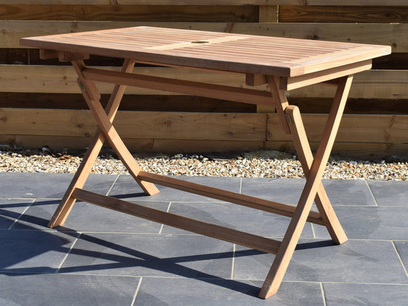Teak 120x70cm Rectangular Folding Table