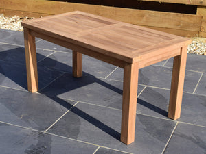 Teak 90x45cm Rectangular Coffee Table