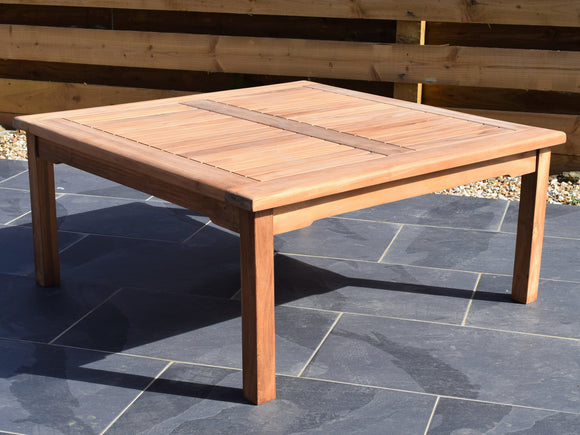 Teak 100cm Square Coffee Table