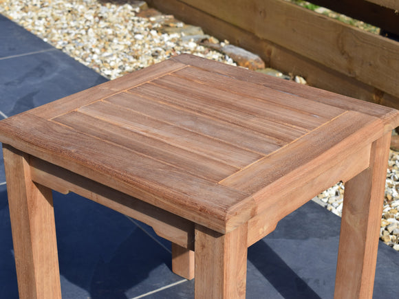 Teak 45cm Square Coffee Table
