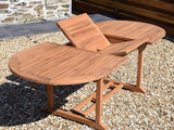 Teak 180-240x100cm Oval Extending Table