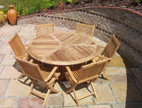 Teak 150cm Round Radar Table