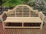 Lutyens 4 Seater Teak Garden Bench - 6ft/180cm