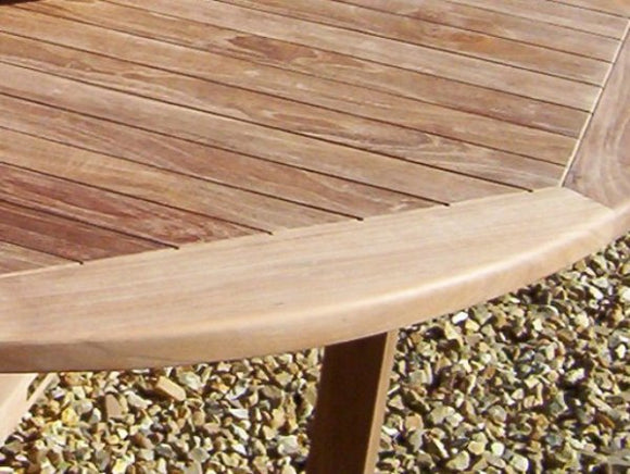 Teak 150cm Round Pedestal Table