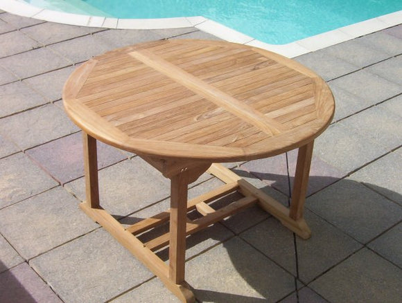 Teak 120-180cm Round Extending Table