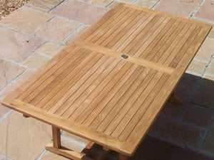 Teak 160x90cm Rectangular Pedestal Table