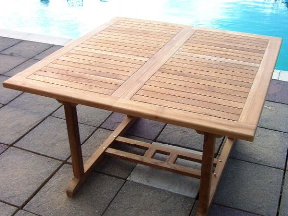 Teak 120-180cm Square Extending Table
